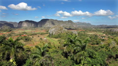 Cuba. Tropical nature of Vinales Valley. Stock Footage