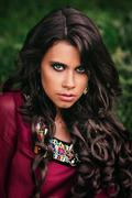 Portrait of a beautiful girl gypsy Kuvituskuvat