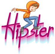 Hipster - stock illustration