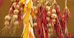 Garlic chili corn close up Stock Footage