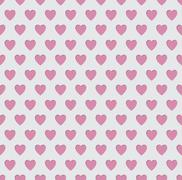 Tileable seamless pink heart pattern background Stock Illustration