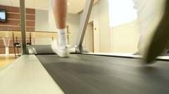 Man running on the treadmill - stock footage