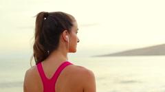 Beautiful Fitness Model - stock footage