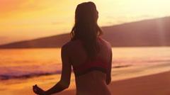 Beach Meditation - stock footage
