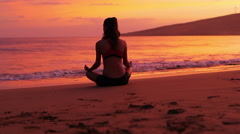 Sunset Yoga Stock Footage