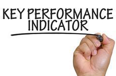 hand writing Key Performance Indicator - stock photo