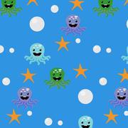 Underwater seamless pattern Stock Illustration
