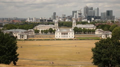 Royal College, Greenwich Stock Footage