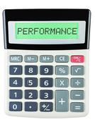 Calculator with PERFORMANCE Stock Photos