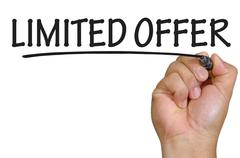 hand writing limited offer - stock photo