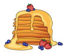 american pancakes - stock illustration