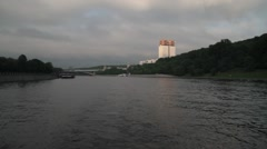 The view of the Russian Academy of Sciences from the river, Stock Footage