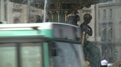 Fountain at Place de la Concorde Stock Footage