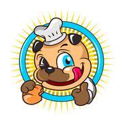 Baker Dog Stock Illustration