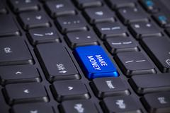 BLUE Make money Enter Key Stock Photos