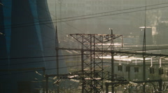 View of the thermal power plant Stock Footage