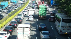 Traffic jams, in Shenzhen 107 National Road, China Stock Footage