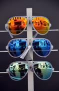 Modern fashion sunglasses - stock photo