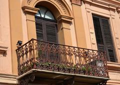 Balcony in Bitola Macedonia Stock Photos