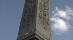 Luxor Obelisk at Place de la Concorde - stock footage