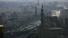 Cairo city overpass road traffic - stock footage