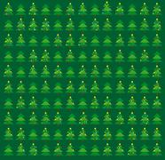 Stock Illustration of Green Christmas wrapping