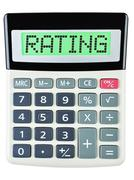 Calculator with RATING - stock photo