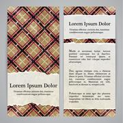 Flayers with retro patterns - gingham with torn paper Stock Illustration