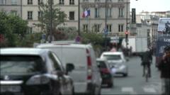 Quai de la Tournelle Traffic 1 - stock footage