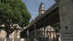 Pont Bir-Hakeim in Daytime Stock Footage