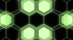 Vj Loops Art Hive Lights Geometric Visual Abstract Background - stock footage