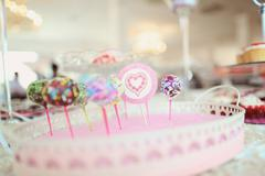 Stock Photo of Delicious cake pops