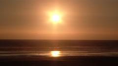Peaceful Sunset Beach Stock Footage