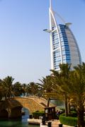 Hotel landmark Sail in Dubai - stock photo