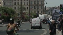 Quai de la Tournelle Traffic 2 - stock footage