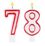 Birthday candles number seventy eight Stock Photos