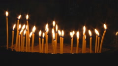 Candles Burning in Temple Stock Footage