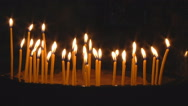 Stock Video Footage of Candles Burning in Temple