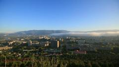 Panorama over Tbilisi from Chronicle of Georgia Stock Footage