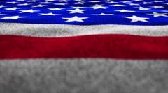 USA Flag, Textile Background, 4k Stock Footage