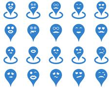Stock Illustration of Smiled location icons