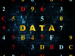 Data concept: Data on Digital background - stock illustration