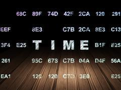 Time concept: Time in grunge dark room Stock Illustration