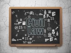 Law concept: Civil Law on School Board background Stock Illustration