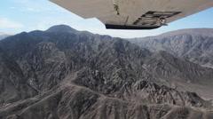 Plane Landing in Nazca, Peru Stock Footage