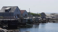 Gorgeous ocean cottages in peggys cove nova scotia Stock Footage