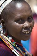 Portrait of masai - stock photo