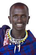 Portrait of a masai - stock photo