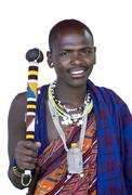 Portrait of a masai Stock Photos