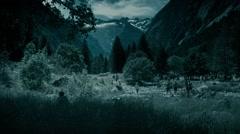 Alps landscape at dusk - stock footage